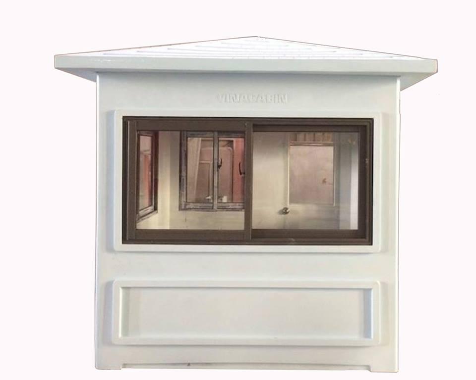Mặt đối diện với cửa đi có kích thước 2.15m, trang bị cửa sổ kính cường lực 8ly với khung nhôm Việt Pháp hệ 2900
