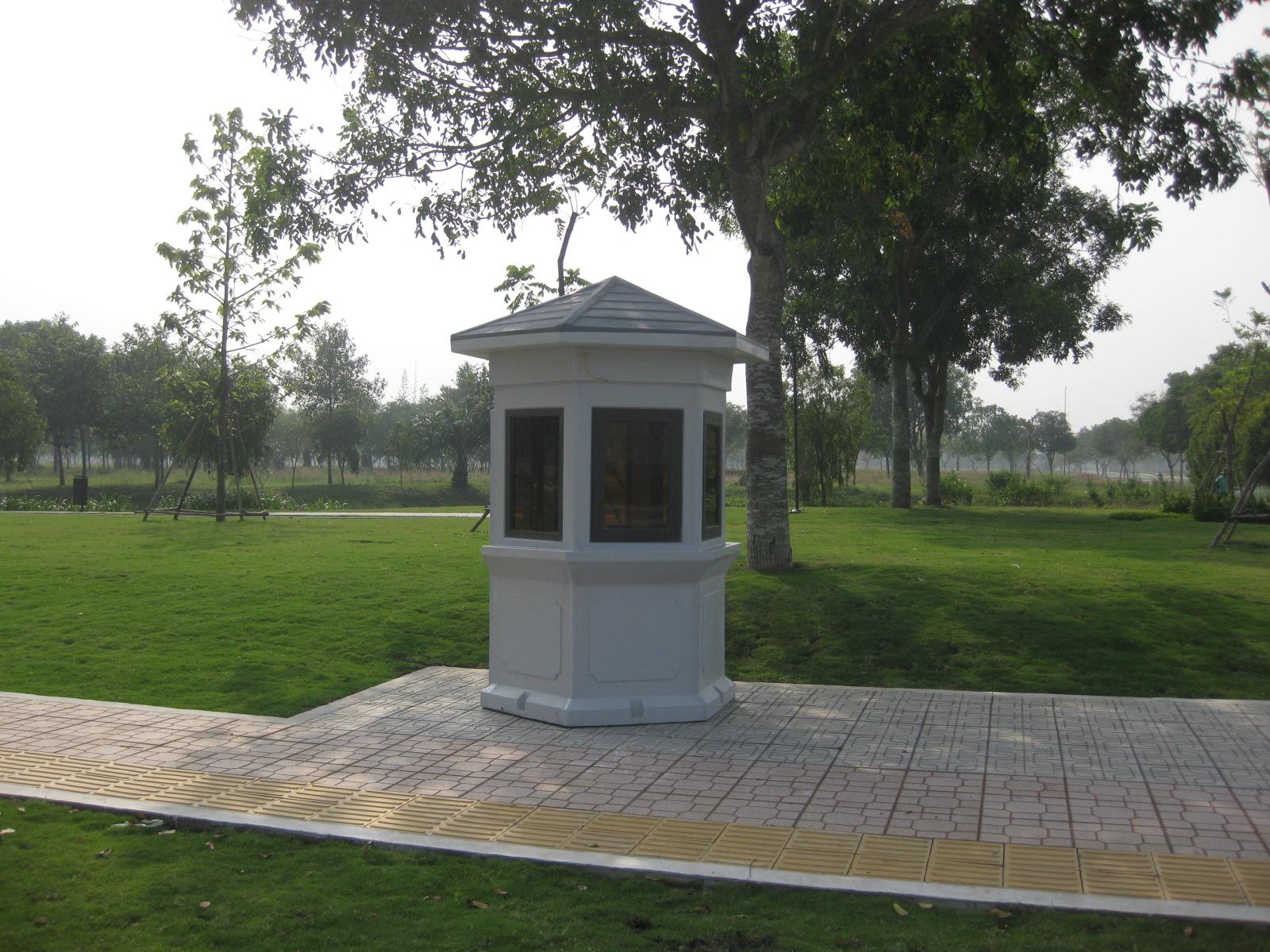 Hình ảnh lắp đặt cabin bảo vệ trang trí sân vườn