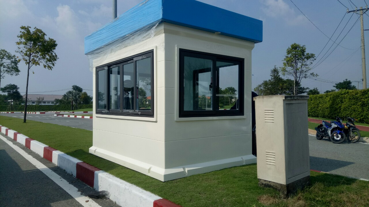 Nhà bảo vệ 2x3m lắp cho khu đô thị